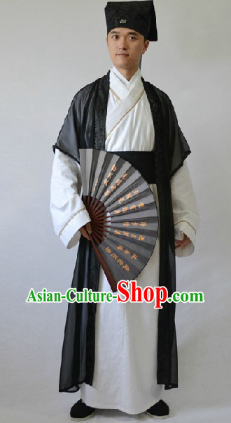 Ancient Chinese Childe Costumes and Hat for Men