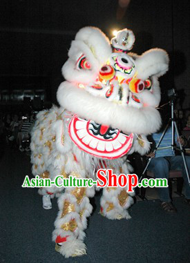Traditional Chinese Golden Sequins Happy Events Celebration Lion Dancing Costume Complete Set