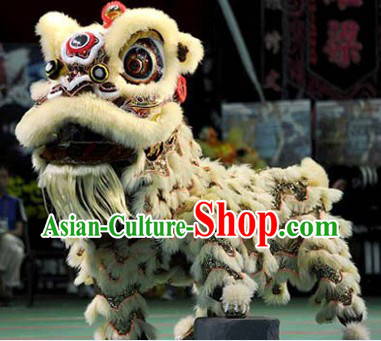 Supreme Chinese Traditional Fut San Style Lion Dance Costume Complete Set