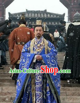 The Assassins Blue Emperor Han Xiandi Costume and Crown