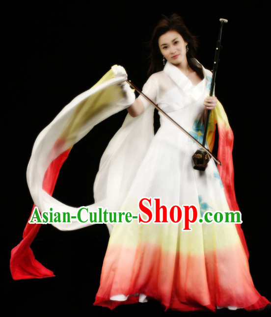 Colour Transition Han Fu Beauty Musicial Costume Complete Set for Women