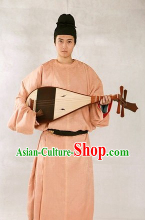 Tang Chao Male Robe Men Attire and Black Hat