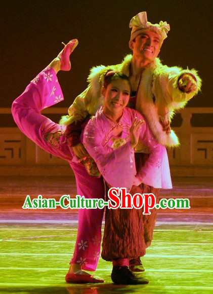Shan Bei Shanxi Huang Tu Gao Pu Farmer Costumes and Village Girl Two Sets