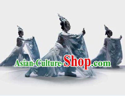 Wudang Mountain Tai Chi Performer Costume and Head Pieces for Men