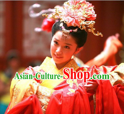 Ancient China Tang Dynasty Imperial Tai Ping Princess Gong Zhu Hair Accessories Set