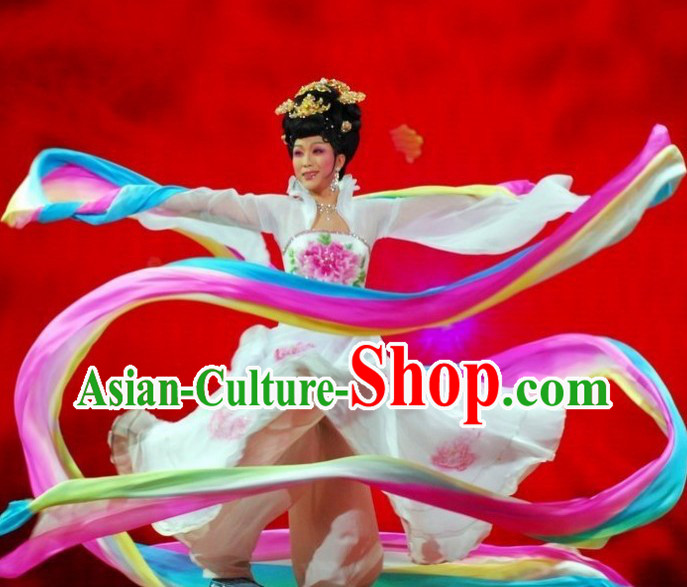 Li Yugang Tang Style Rainbow Colour Ribbon Dancing Costume for Women