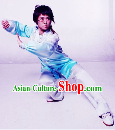 Colour Transition Martial Arts Silk Suit for Girls