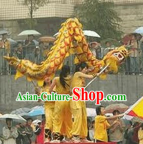 Traditional Chinese New Year Dragon Dancing Costume for Three or Four People