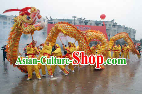 Beijing 2008 Olympic Games Chongqing Style Tongliang Dragon Dance Costume for 14 People