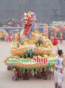 Old Style Handmade Auspicious Cloud Dragon Dance Costumes for Ten People