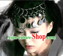 Ancient China Empress Black Female Forehead Hair Accessories