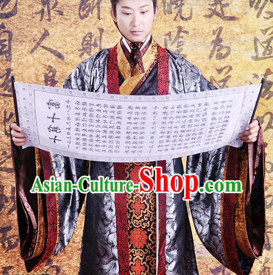 Ancient Chinese Clothing Three Pieces Set for Men