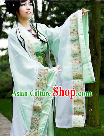 Green Ancient Chinese Tang Princess Clothes for Women