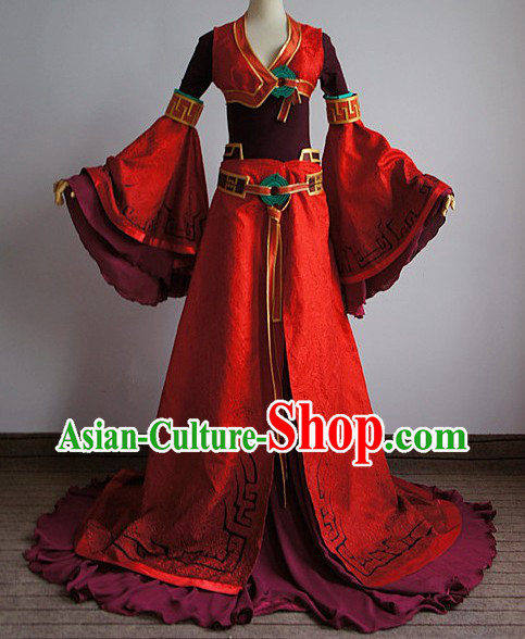 Ancient Legend of Sword and Fairy Swordswoman Cosplay Clothing Complete Set