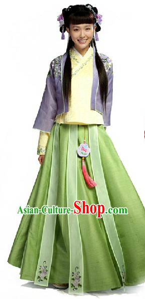 China Ming Dynasty Yu Qilin Perfect Couple Clothing for Women