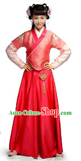 Ancient China Ming Dynasty Yu Qilin Perfect Couple Red Clothing for Women