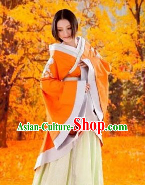 Ancient Chinese Autumn Hanfu Clothing for Women