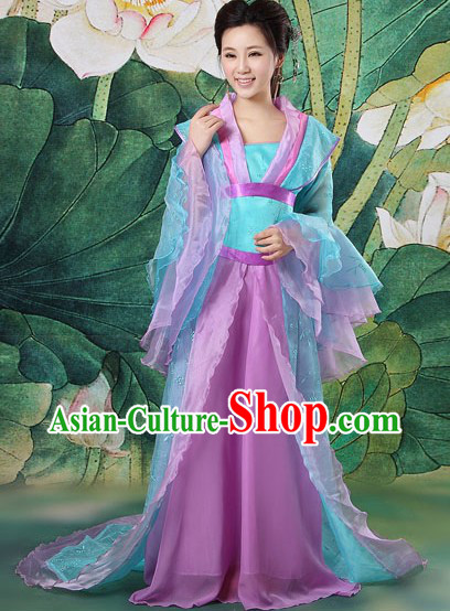 Ancient Chinese Tang Dynasty Girl Clothing Complete Set