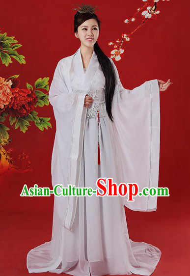 Ancient Chinese White Beauty Costumes for Women