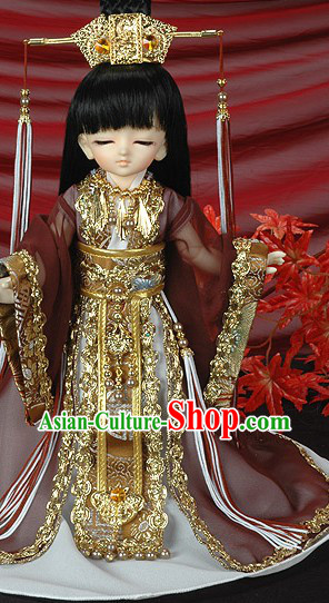Ancient China Emperor Outfits and Imperial Coronet for Boys