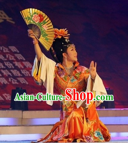 Li Yugang Orange Empress Butterfly Embroidery Clothes for Women
