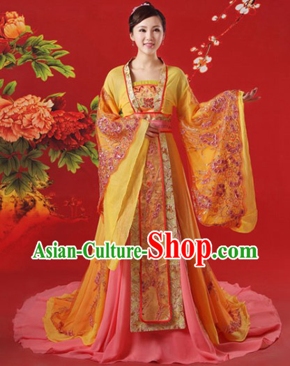 Ancient China Tang Dynasty Princess Outfits and Hair Accessories Complete Set