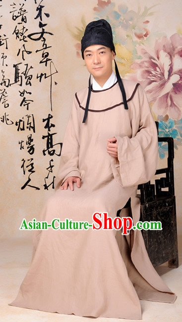 Ancient Chinese Tang Dynasty Long Robe for Men