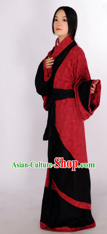 Ancient Chinese Red and Black Ancient Suit for Women