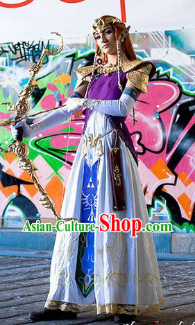 Legend Of Zelda Twilight Princess Zleda Cosplay Costume