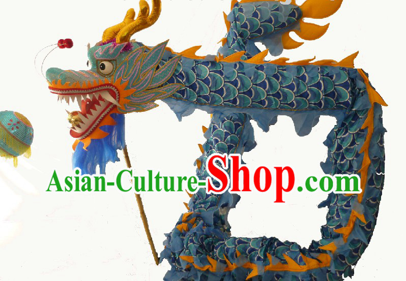 40 Meters Long Chinese Classical Dragon Dancing Costumes for 21-22 People