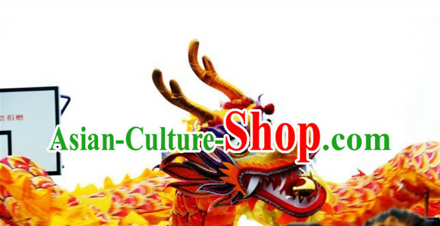 30 Meters Long Traditional Chinese Dragon Dance Costumes for 15-16 People