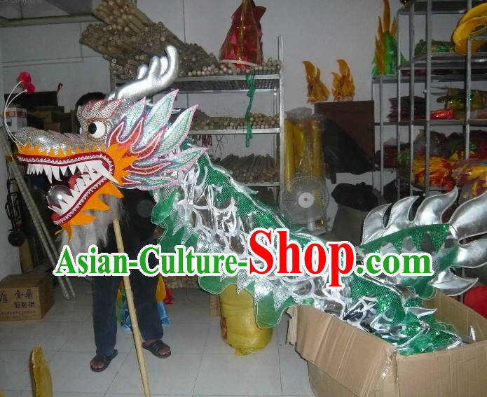 Shinning Silver Dragon Dance Costume for Nine or Ten Dancers