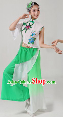 Chinese New Year Celebration Jasmine Flower Dance Costumes and Headpieces