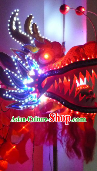 Luminous LED Lamps Dragon Dance Costumes Props for 19-20 People