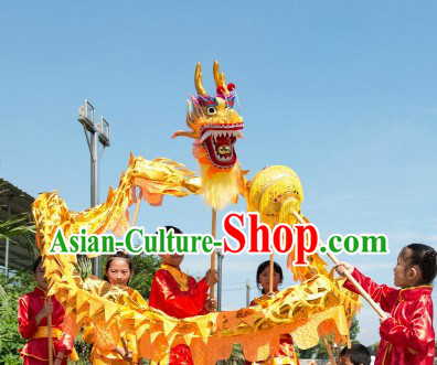 Shinning Grand Opening and Celebration Golden Dragon Dance Costumes for Five or Six Kids