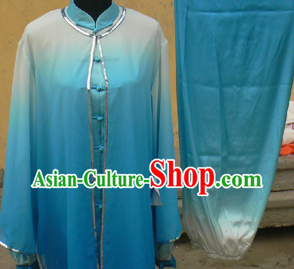 Colour Changes Chinese Silk Long Fist and Southern Fist Kung Fu Suit for Women