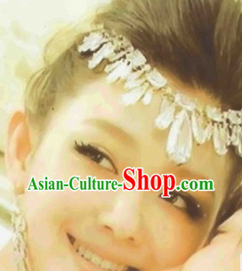 Chinese Classical Wedding Forehead Accessories and Earrings