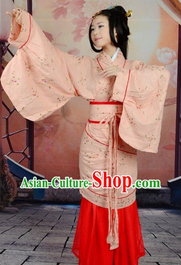 Traditional Ancient Chinese Han Dynasty Attire Clothing for Women