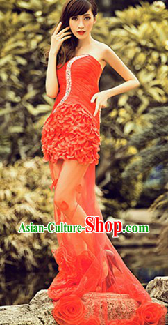 2013 New Design Sexy Red Wedding Evening Dress Attire