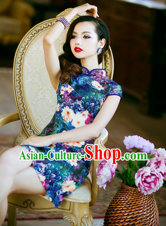 Traditional Chinese Old Shanghai Style Cheongsam Qipao