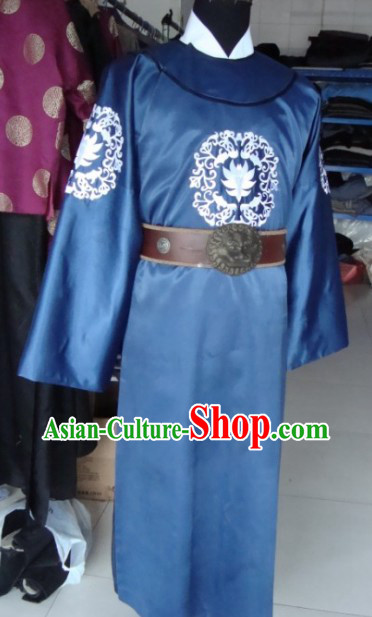 Ancient Chinese Di Ren Jie Detective Costumes and and Hat for Men