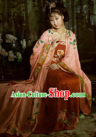 Tang Dynasty Chinese Princess Imperial Clothes Suit for Women