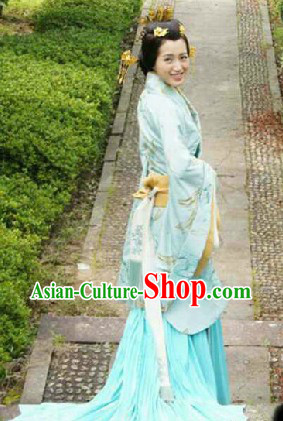 Ancient Chinese Han Dynasty Priness Clothing with Fish Tail