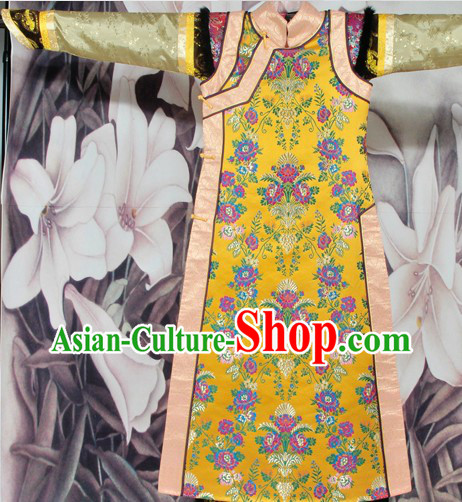 Traditional Chinese Qing Dynasty Empress Clothing Suit