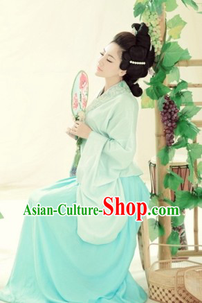 Traditional Chinese Guzhuang Han Fu Clothing for Women