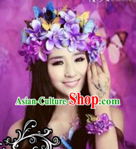 Romantic Flower and Butterfly Hair Accessories