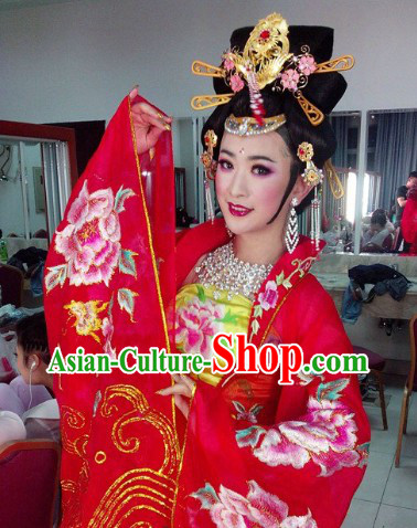 Ancient Chinese Stage Performance Style Empress Butterfly and Flower Suit