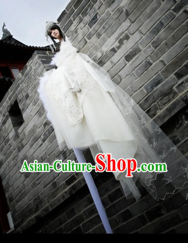 Ancient Chinese White Princess Legend Costumes Complete Set Free Shipping Worldwide