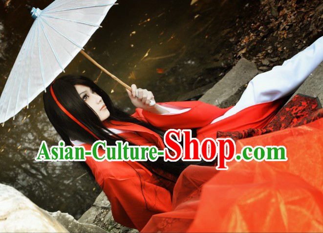 Ancient Chinese Red Hanfu Clothing Mysterious Celebrity Clothing