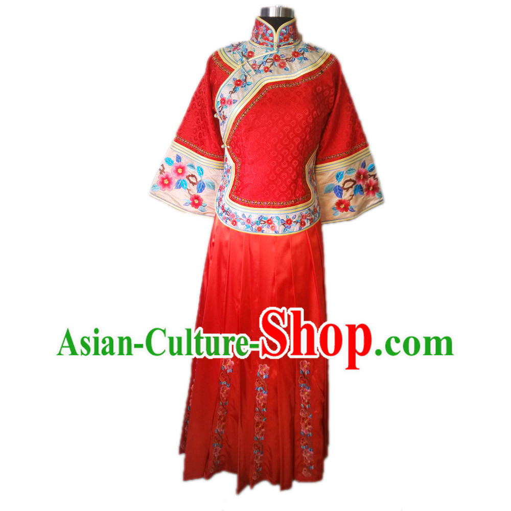 Chinese Red Xiu He Style Wedding Outfit for Brides
